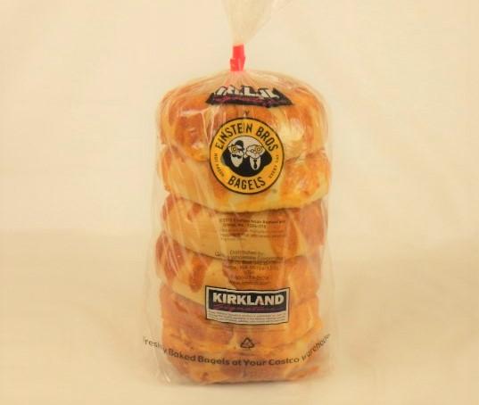 コストコ チーズベーグルのパッケージ