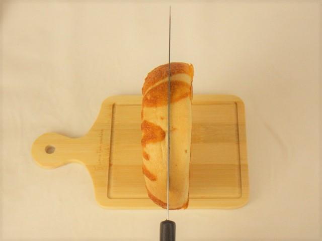 コストコ チーズベーグルのカット方法