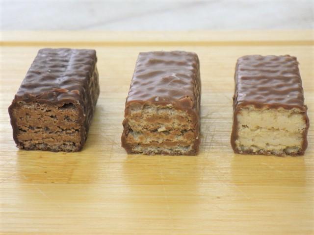コストコのカーギ チョコウエハースの断面図
