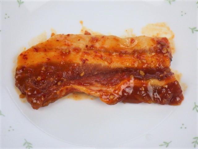 コストコのヤンニョム豚バラ焼肉の1枚サイズ
