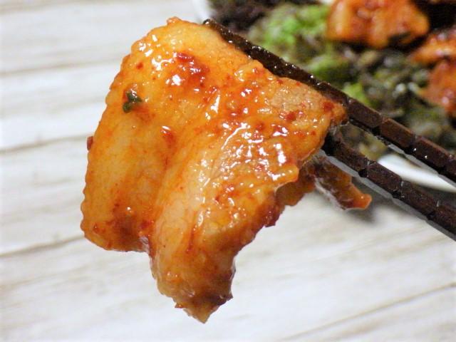 コストコのヤンニョム豚バラ焼肉のアップ写真