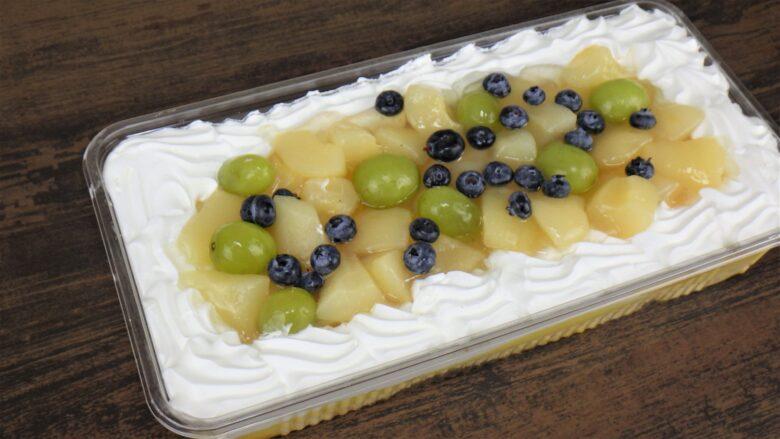コストコの洋ナシスコップケーキの表面のアップ
