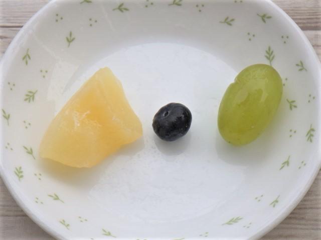コストコの洋ナシスコップケーキに使用しているフルーツ