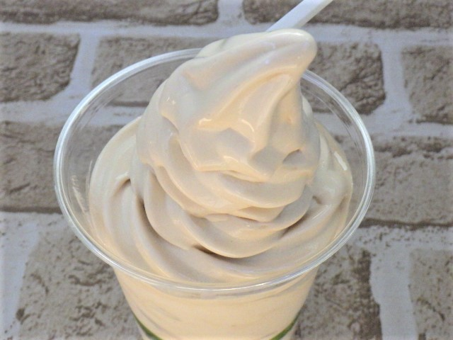 コストコのマロンソフトクリームの表面アップ