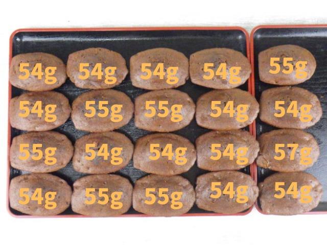 コストコのチョコレートラバーマドレーヌの総重量