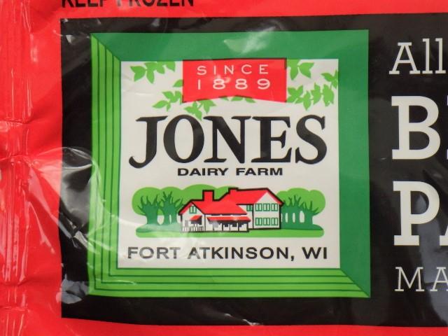 ブレックファストポークパティのジョーンズデイリーファームのロゴ