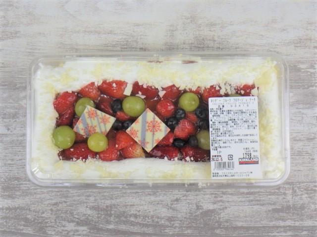 コストコのホリデーフルーツフロマージュケーキのパッケージ全体写真