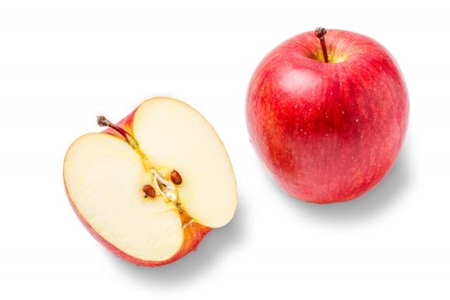 りんご1個と断面図