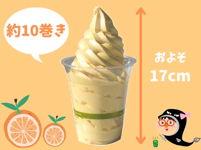 コストコのみかんソフトクリームのサイズ