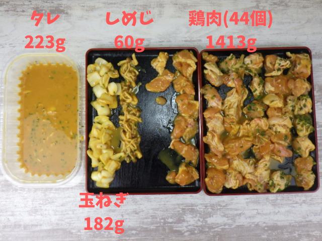 コストコの鶏の西京みそ漬けの具材の量