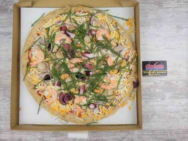 コストコのフルッティディマーレピザの1ホールサイズ