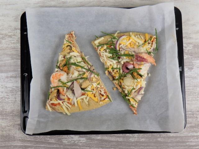 コストコのフルッティディマーレピザの切り方と焼き方