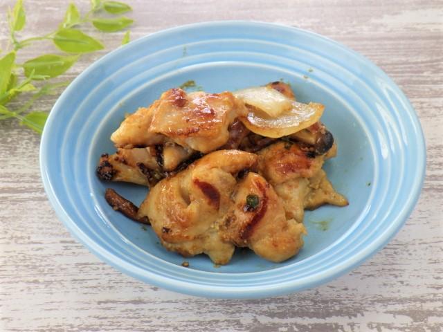 コストコの鶏の西京みそ漬けを焼いて盛り付け