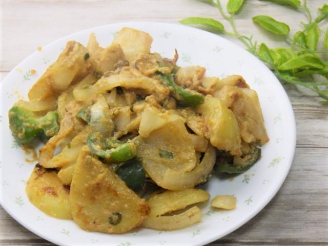 コストコの鶏の西京みそ漬けの余りダレで野菜炒め