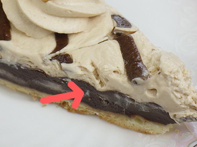 コストコのチョコレート&プラリネタルトのチョコクリーム