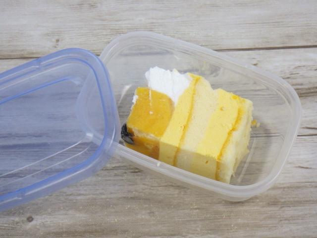 マンゴームーススコップケーキをパックで保存