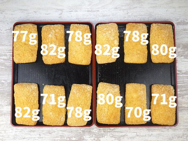 ゴーダチーズブレッドの内容量