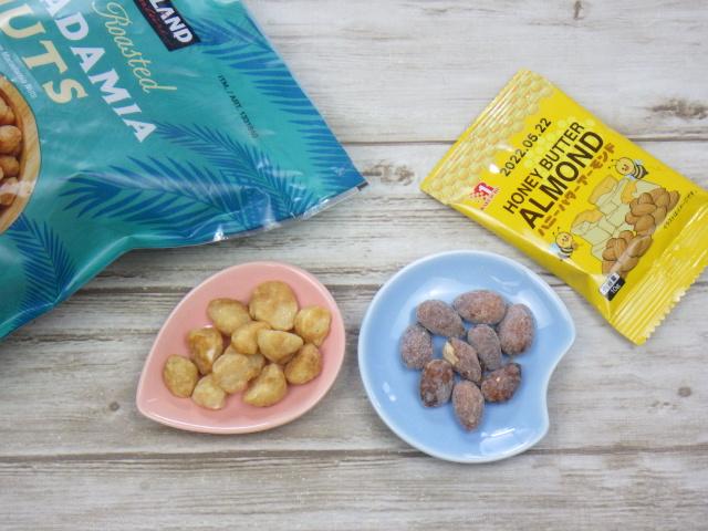 コストコのハニーローストマカダミアナッツをハニーバターアモンドと比較