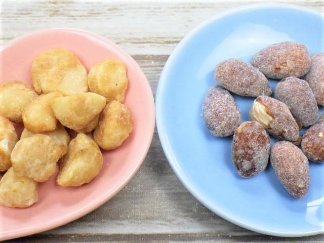 コストコのハニーローストマカダミアナッツとハニーバターアーモンドの比較