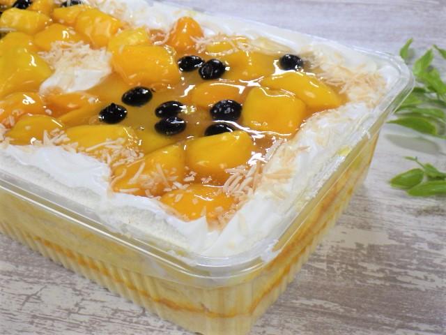 マンゴームーススコップケーキのアップ