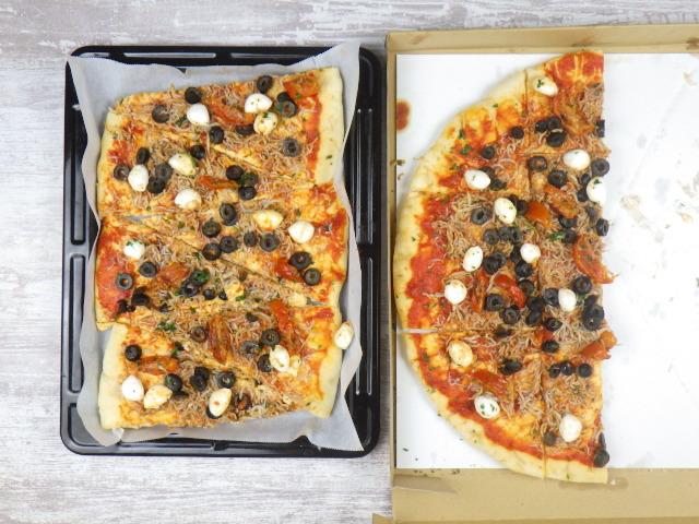 コストコの遠州しらすピザの焼き方