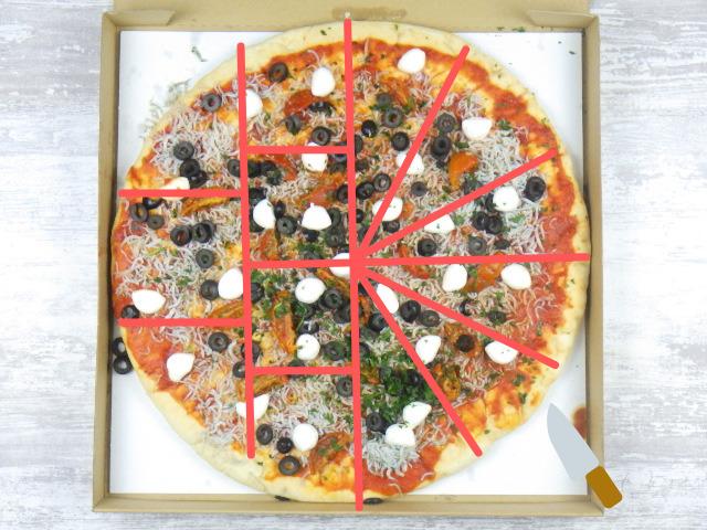 コストコの遠州しらすピザの切り方