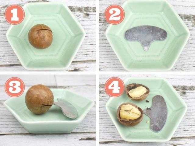 コストコの殻付きマカダミアナッツの殻の開け方