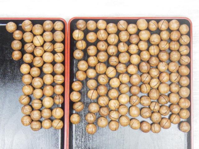 コストコの殻付きマカダミアナッツの全数