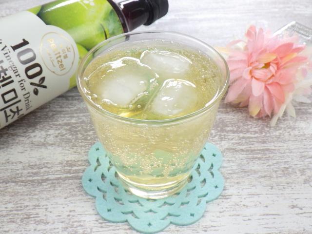 コストコの美酢グリーンアップル(青りんご)の炭酸水割り