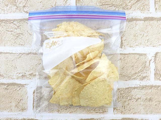 コストコのオーガニックホワイトコーントルティーヤチップスの冷凍保存方法
