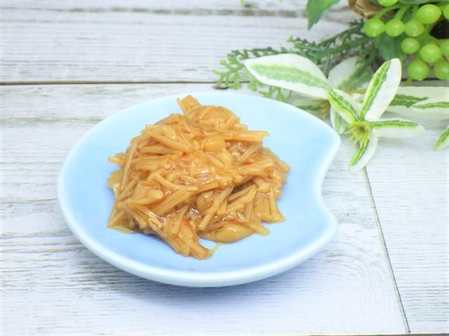 コストコの七味なめ茸の小皿取り分け