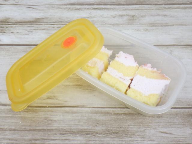 コストコのダブルストロベリーケーキの冷凍保存方法