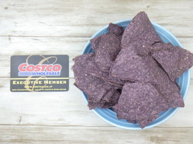 コストコのオーガニックブルーコーントルティーヤチップスの70gの量