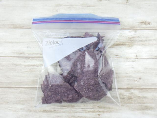コストコのオーガニックブルーコーントルティーヤチップスの冷凍保存方法