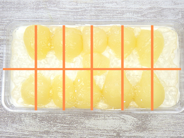 コストコの洋梨パンナコッタムースケーキの切り方