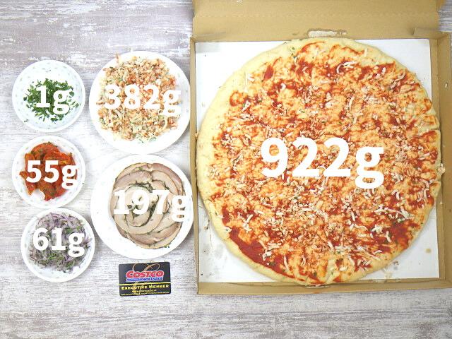 コストコのポルケッタピザの内容量