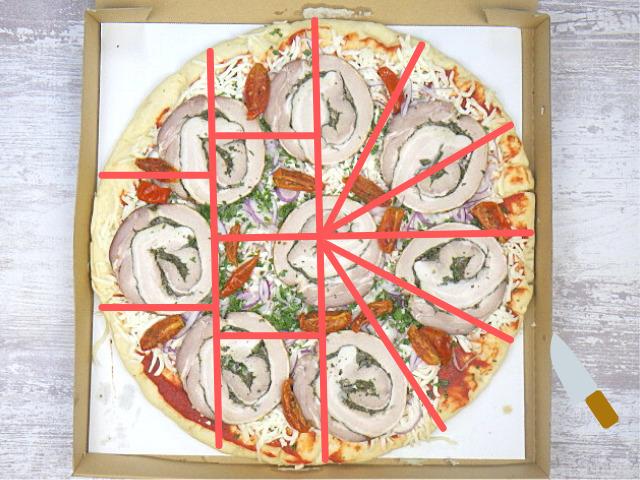 コストコのポルケッタピザの切り方