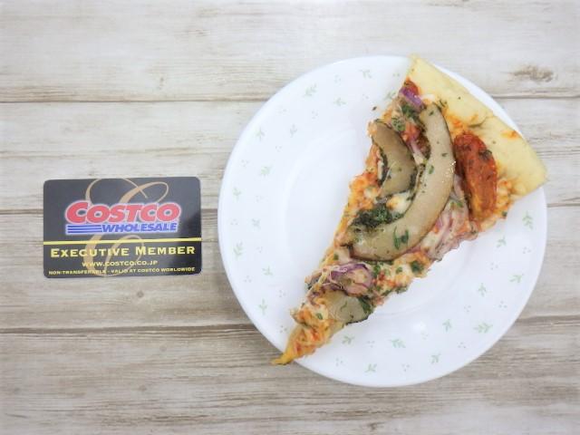 コストコのポルケッタピザの16等分の1カット