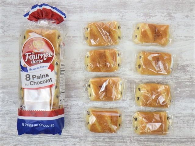 コストコのLa Fournee doreeバターパンオショコラは1袋8個入り