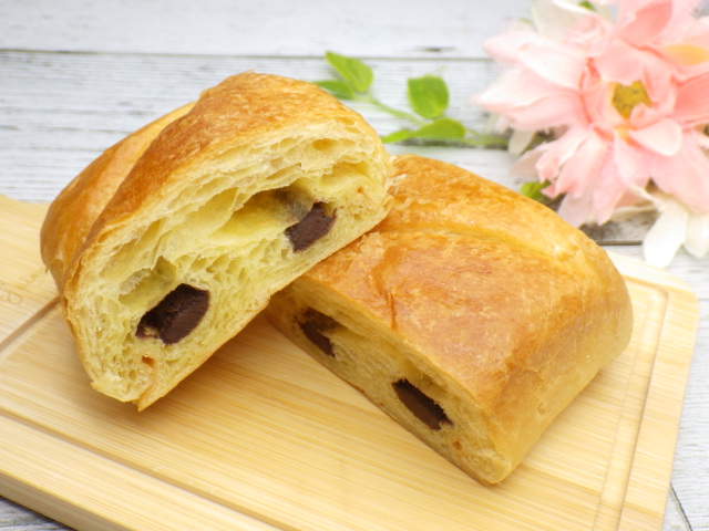 コストコのLa Fournee doreeバターパンオショコラの表面のアップ